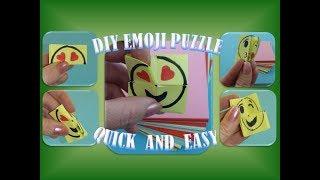 DIY EMOJI PUZZLE ORIGAMI QUICK AND EASY TUTORIAL; SCHNELL UND EINFACH