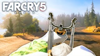 Far Cry 5 - ROCK ONLY SLINGSHOT CHALLENGE (Far Cry 5 Free Roam) #8