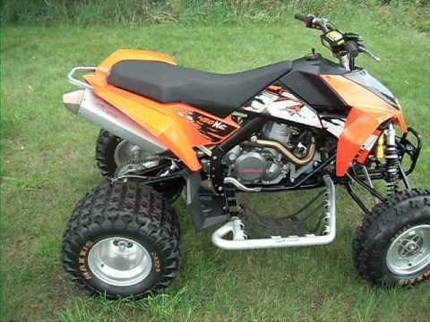 2008 ktm 450 xc atv - youtube