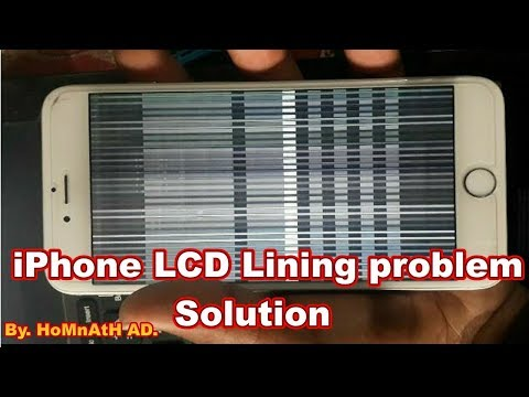 iPhone display lining OR display blinking problem