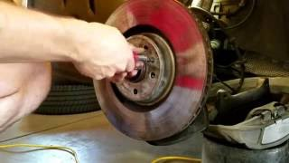 How to replace wheel hub and bearing assembly on 2012 - 2015 Audi A6 3.0T (C7 4G) - DIY