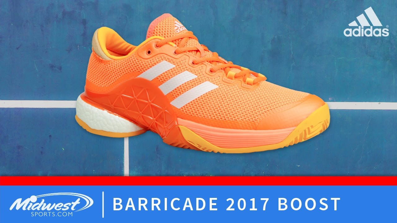Chaussures De Tennis Adidas Barricade 2017 Boost Orange