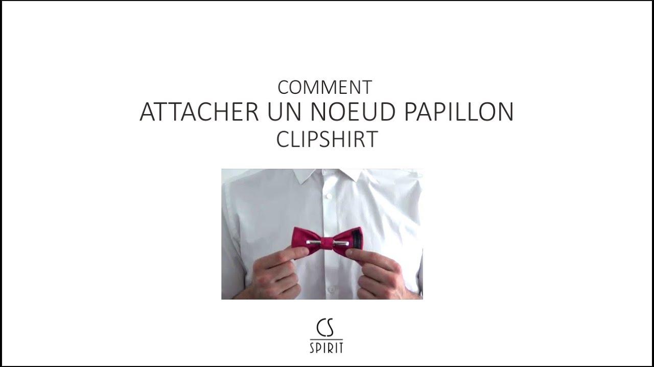 Comment attacher un noeud papillon clipshirt sans tour de cou youtube - Comment nouer un noeud papillon ...