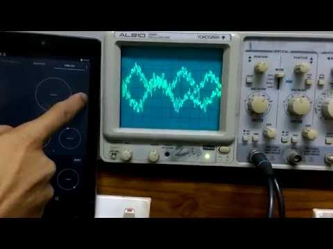 Music visualization through oscilloscope