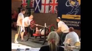 Thomas Rutland, 95k bench press attempt from BPO British Champs 2015