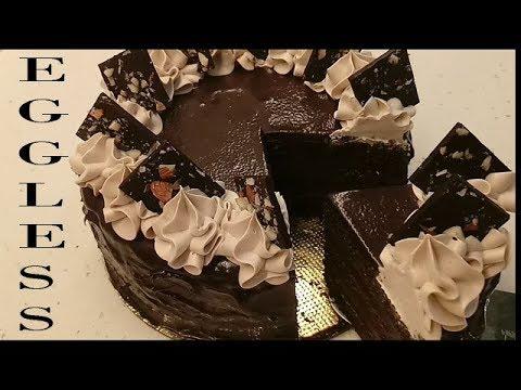 Best EGGLESS Dark Chocolate Cake Recipe With Curd | EGGLESS Chocolate Truffle Cake With Coffee