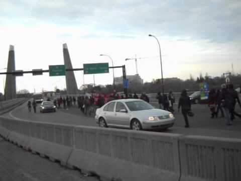 Grève Étudiante 2012 - Blocage du pont de la Concorde, l'accès au Casino de Montréal