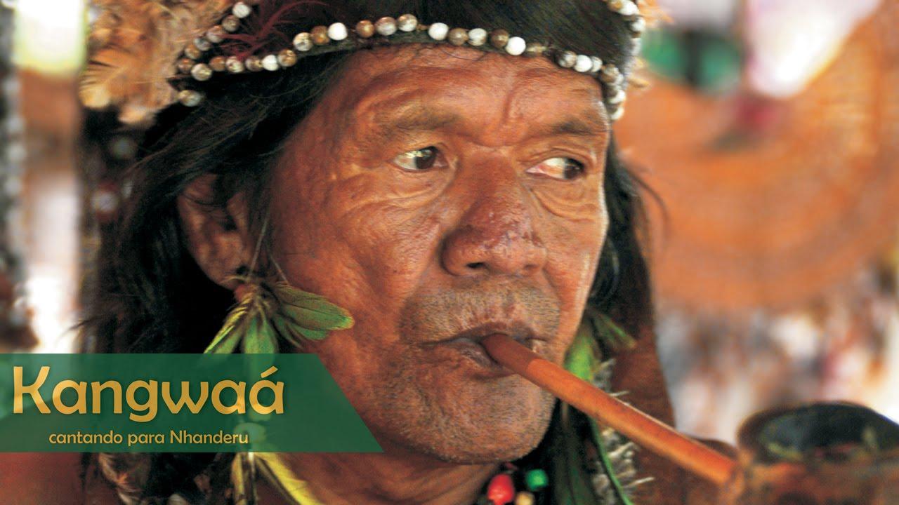 Kangwaá Cantando Para Nhanderú índios Tupi Guarani
