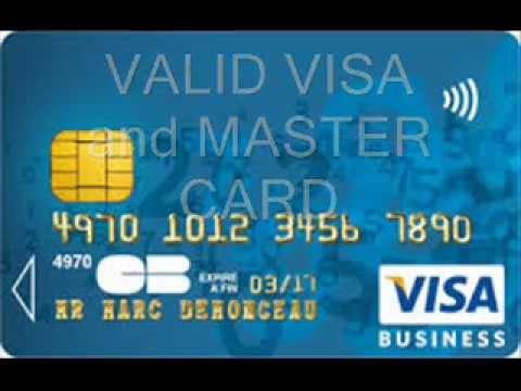 Visa Master Card Valid