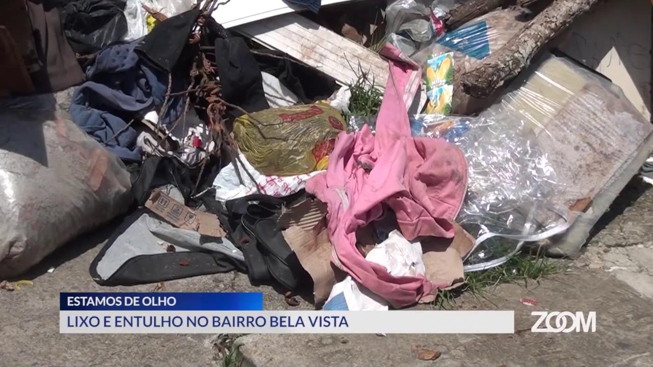 996a76cc3 09-01-2019 - ESTAMOS DE OLHO - DESCARTE IRREGULAR DE LIXO NO BAIRRO BELA  VISTA - ZOOM TV JORNAL