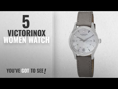 Top 10 Victorinox Women Watch [2018]: Victorinox Alliance Small White Mother of Pearl Dial Grey