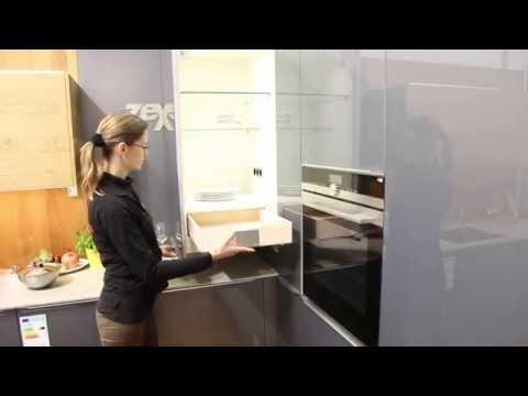 13. Internationale Küchenmesse in Stuttgart - Ecklösung über der Küchen-Arbeitsplatte