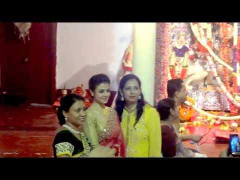 Koel Mallick in a Beautiful Saree - Mallick Bari - Astami Durga Puja | Kolkata 2016