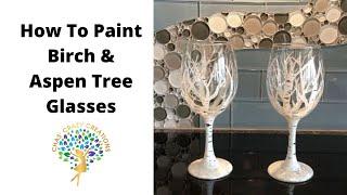 DIY with Chas - Aspen Birch Tree Wine Glasses