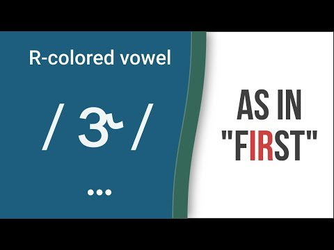 """R-Colored Vowel Sound / ɝ / as in """"first""""- American English Pronunciation"""