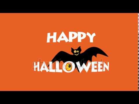 Happy Halloween logo typography Creative animation - YouTube