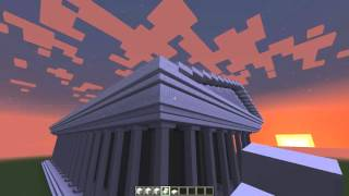 Греческий храм (Minecraft). Для урока Информатика/МХК.