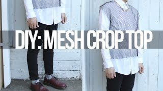 DIY: Mesh Crop Top! +OOTD! Thumbnail
