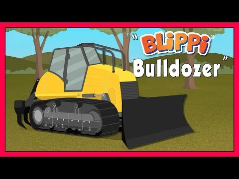 Educational Videos for Kids with Blippi  Explore A Bulldozer Construction Truck