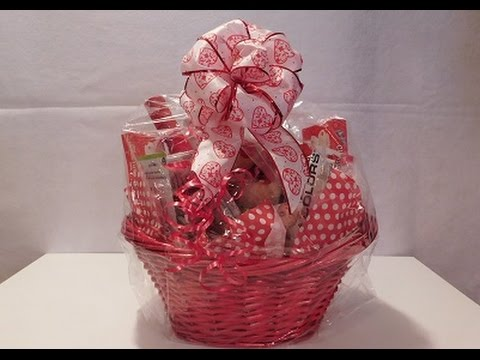 How To Make A Gift Basket   Valentineu0027s Day Basket Demonstration   YouTube