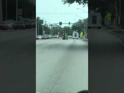Raw video: Driver hits motorcycle after Sarasota confrontation