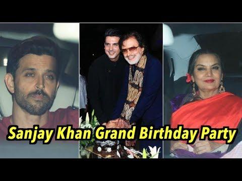 Hrithik Roshan LOOKS SAD @Sanjay Khan Grand Birthday Party | Zayed Khan, Shatrughan Sinha