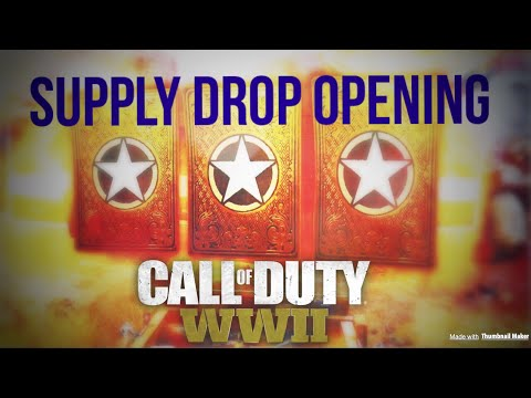EPIC Supply Drop Opening (ft. HQ Sitting Glitch) | Call of Duty WWll || Troikality