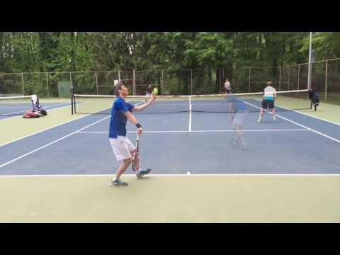 Jae Tennis Doubles match (hd) Jae/Chris vs Nikita/Alex