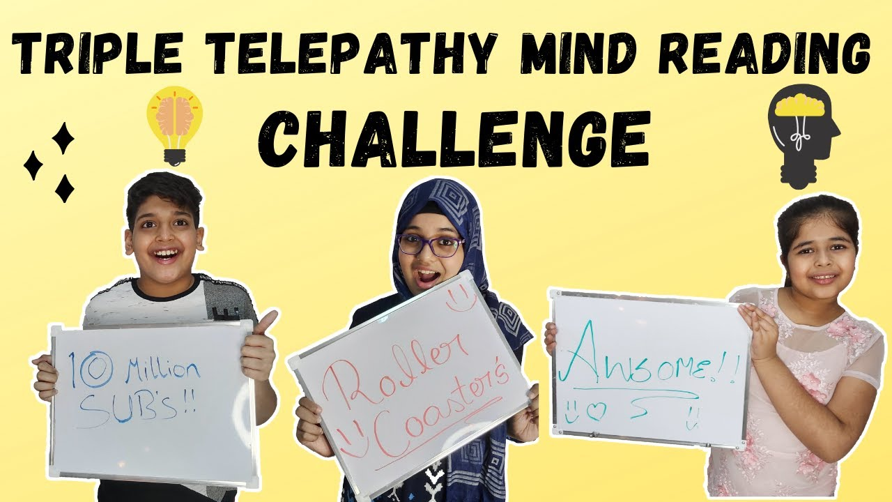 TRIPLE TELEPATHY MIND READING CHALLENGE | READING EACH OTHER'S MIND | FUNNY KIDS