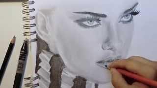 Drawing Adriana Lima - Asmasketches