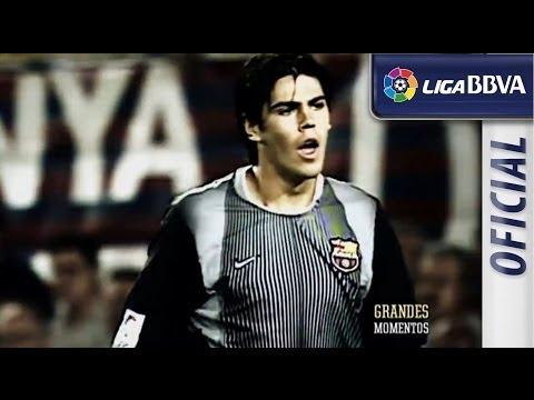 Debut en Liga de víctor Valdés con el FC Barcelona