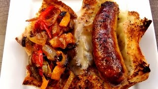 Sausage and Peppers Sandwich - My Mothers Secret Recipe