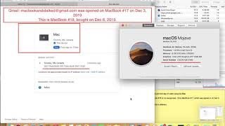 95. Only MacBook #17 not MacBook #18 recognized by Gmail.