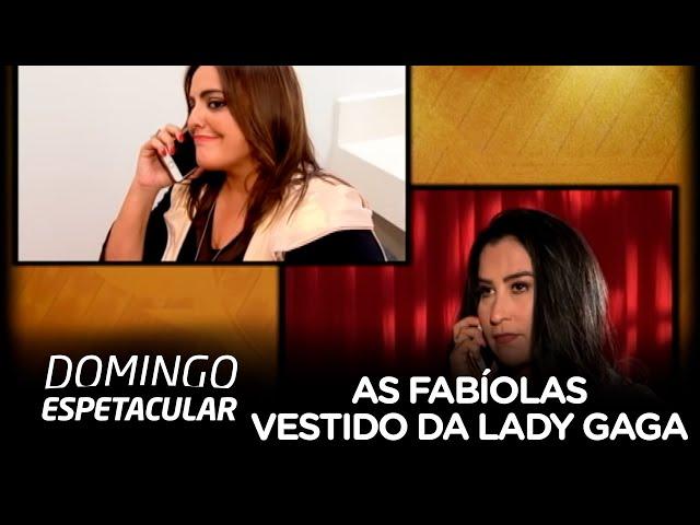 As Fabíolas são desafiadas a reproduzir vestido de Lady Gaga no Oscar