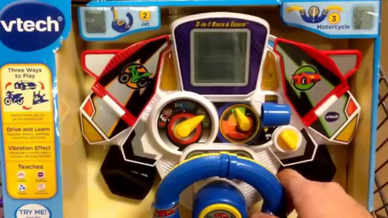 Vtech 3 in 1 race learn toddler toy toy review youtube for Bureau 3 en 1 vtech