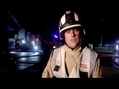 Fire -  Basildon Warehouse  - 20 08 2017