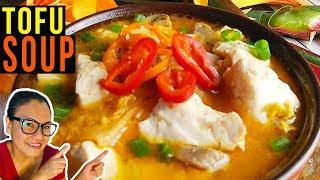 Tofu Soup  Silken Tofu  Easy Kimchi Tofu Recipe