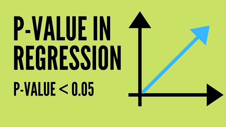 what does pvalue mean in regression