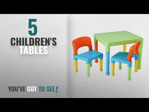 Top 10 Children'S Tables [2018]: Liberty House Toys Children's Table And 2 Chairs Set, Plastic,
