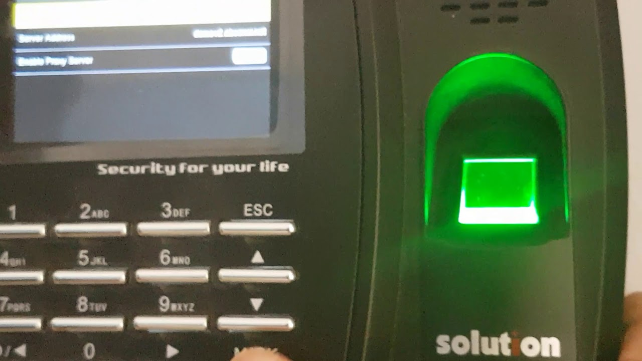 Cara setting ADMS fingerprint x100c