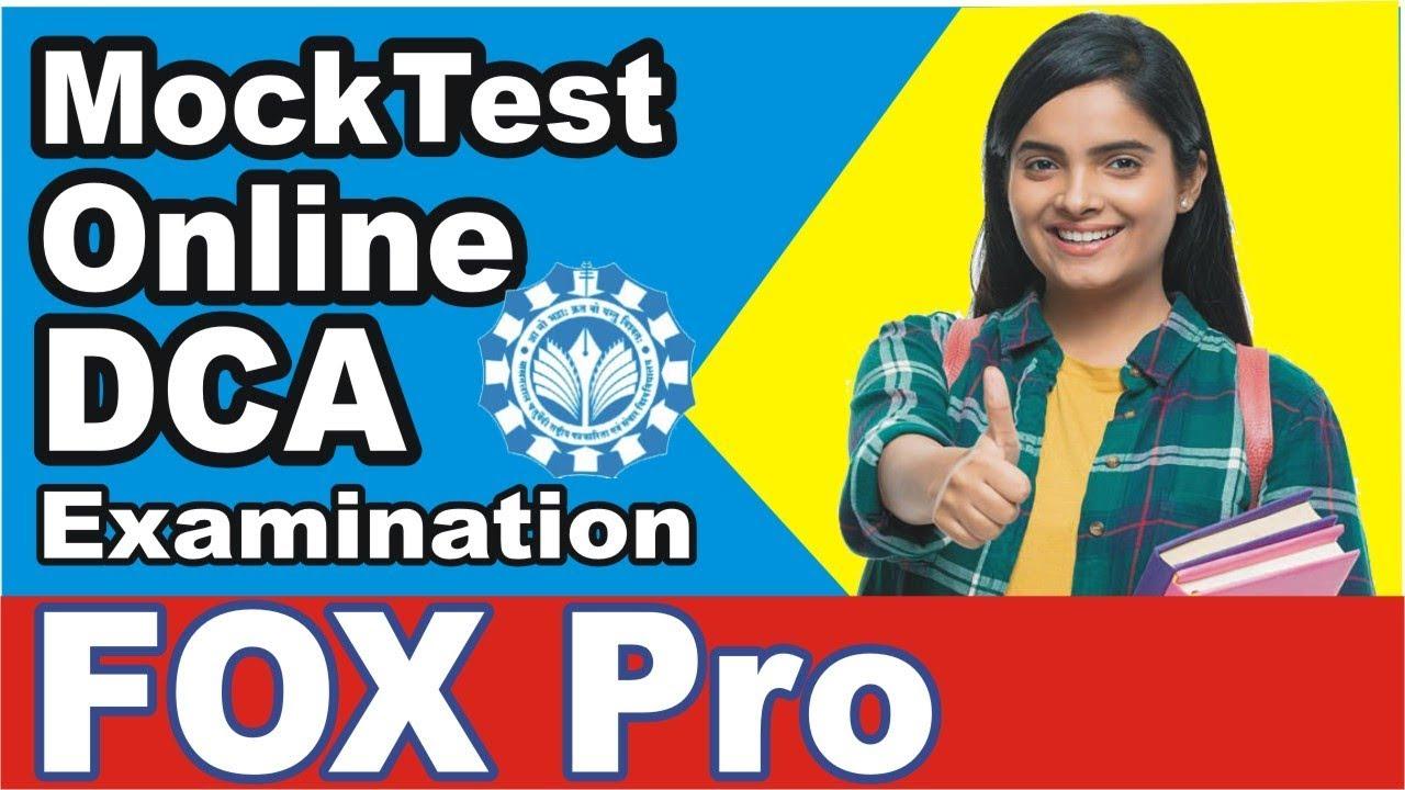 Mock Test for DCA Online Examination( Fox Pro ) MCRPV MPONLINE