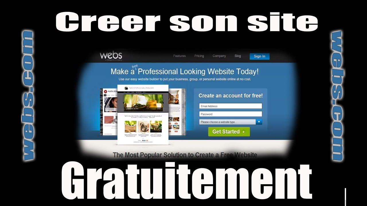 creer site internet free
