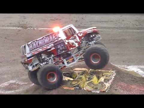 Backdraft Wrecks At Monster Jam 2013 San Antonio, Texas