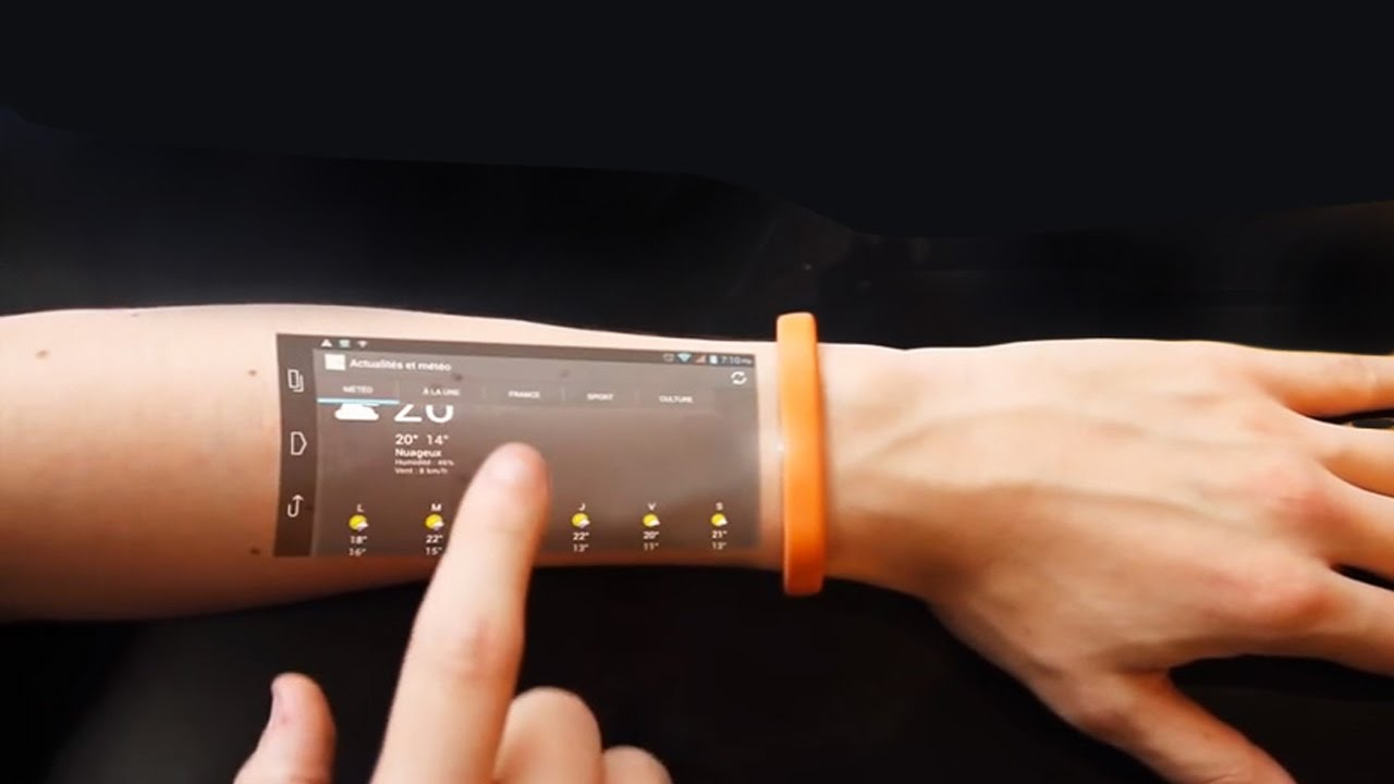 bracelet cicret technology touch screen skin into arm future turn device touchscreen futuristic turns inventions invention gadgets forearm change google