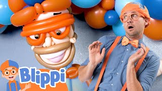 Blippi Learns Colors of The Rainbow with Balloons | educational Videos For Kids