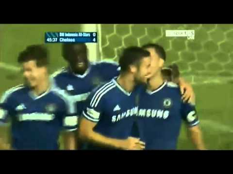 CHELSEA vs Indonesia all stars 8-1 all goals and highlights 25/7/13
