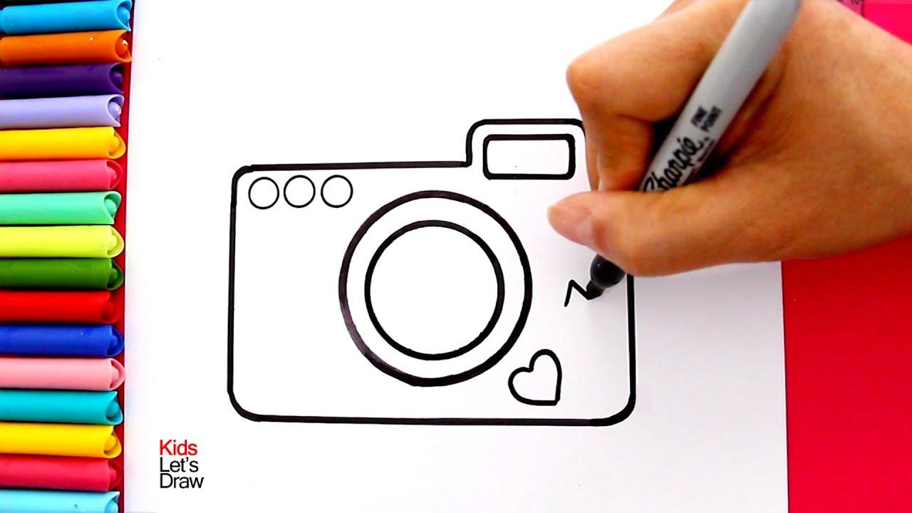 Aprende A Dibujar Una Cámara De Fotos Con Brillantina How To Draw A Glitter Photo Camera Youtube