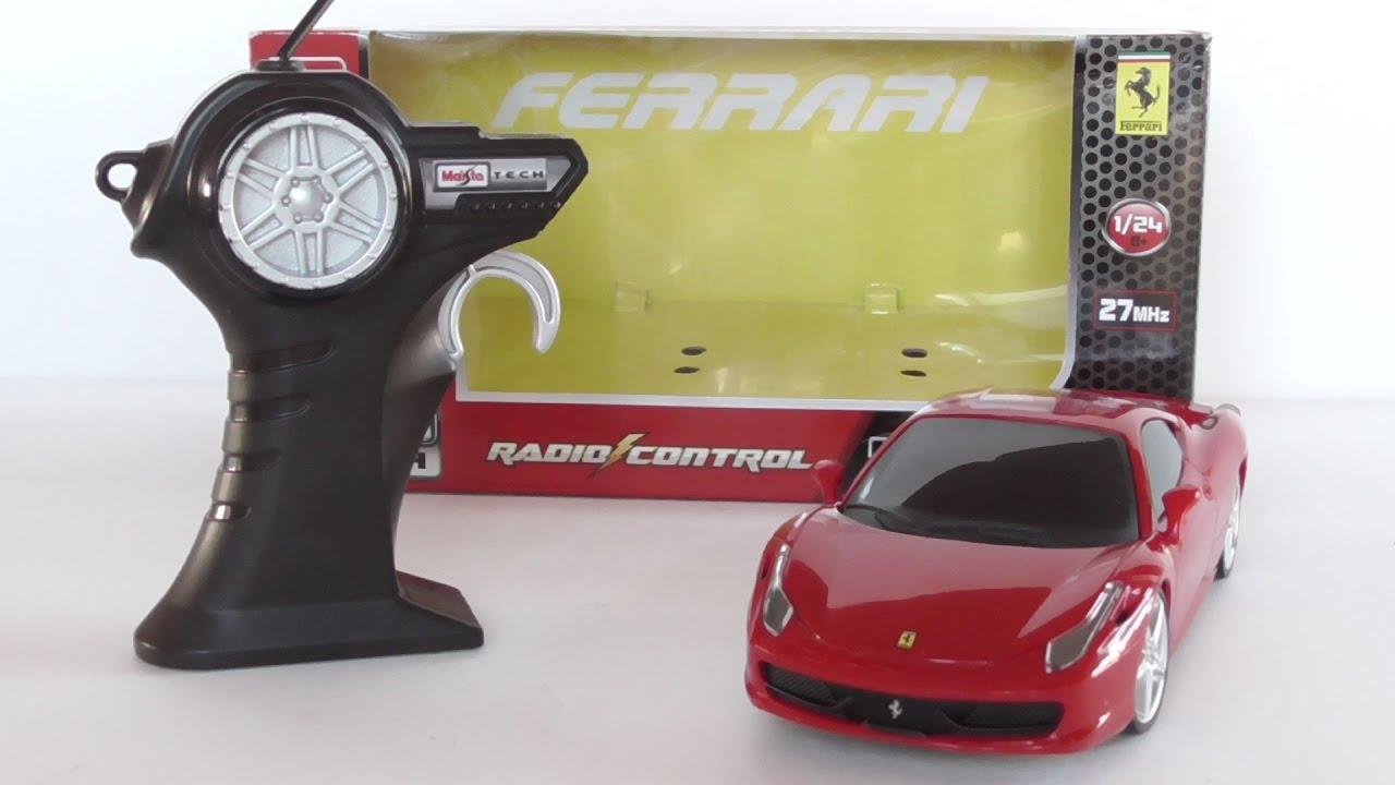 maisto rc 124 scale ferrari 458 italia radio control - 1280×720