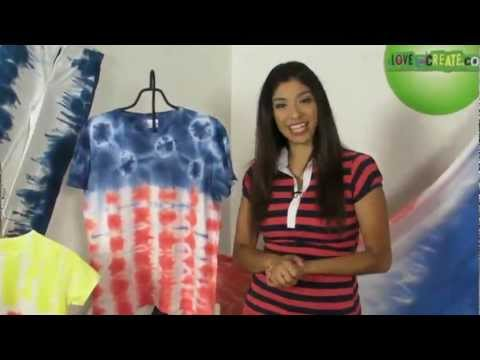 How To Create A Tie Dye Flag Pattern With Tulip One-Step Tie-Dye Kit