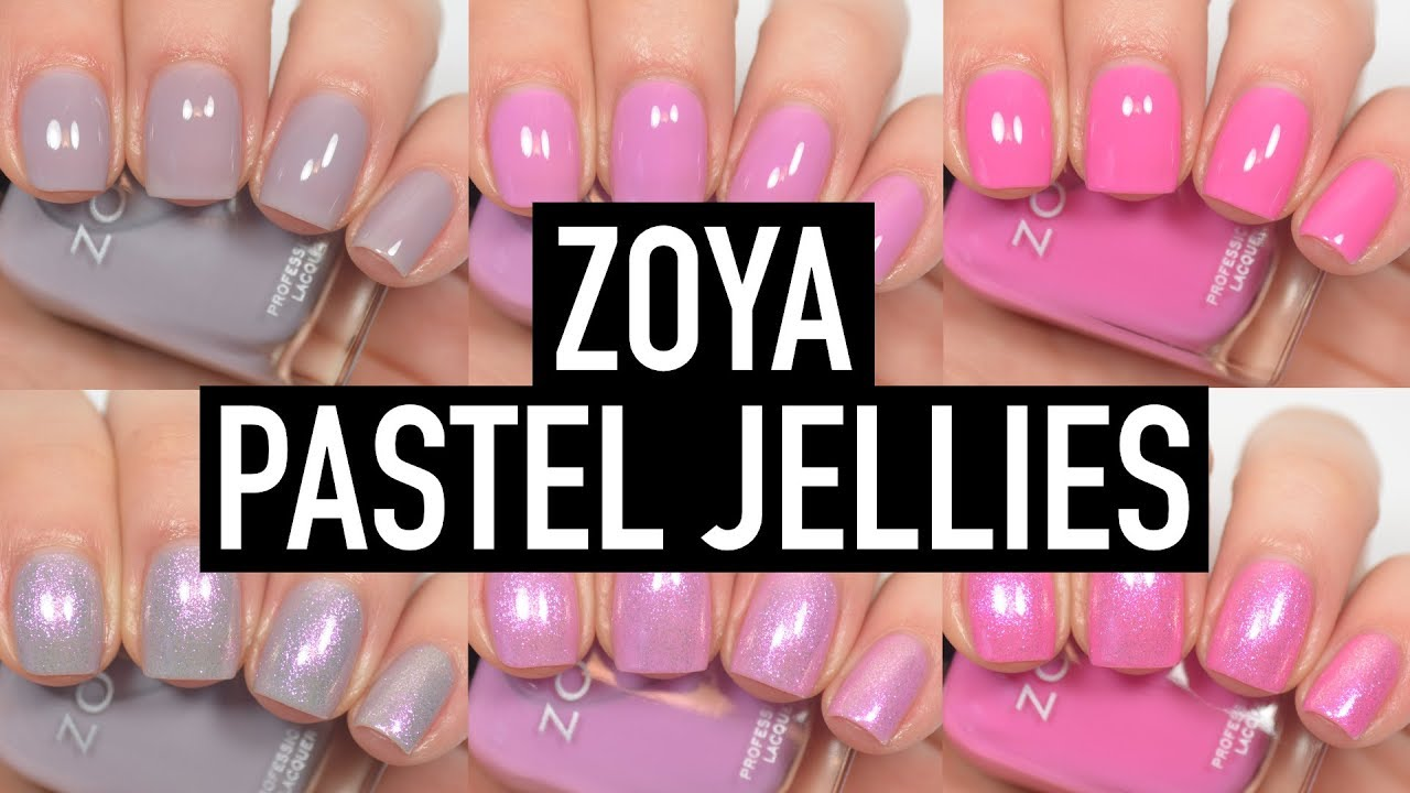 Zoya - Kisses (Pastel Jellies) | Swatch and Review - YouTube
